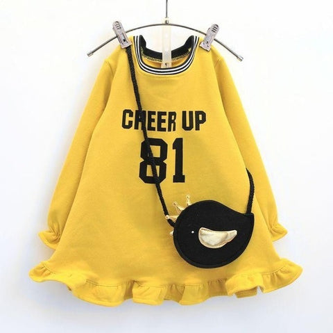Cheer Up Sweater Dress & Bag - Debbie's Kids Boutique