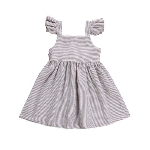 Girls Bow Stripe Sundress
