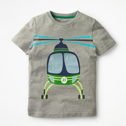 Cute Helicopter Little Boy Tee - Debbie's Kids Boutique