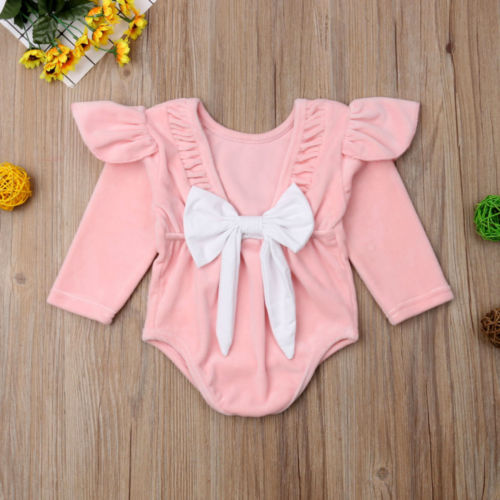 Bowknot Baby Girls Romper