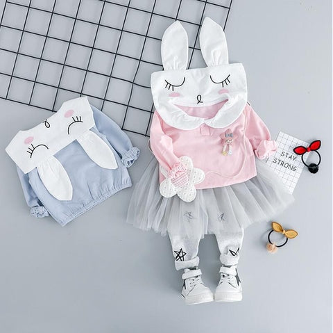 Baby Girl Rabbit  Top and Tutu Pants set - Debbie's Kids Boutique