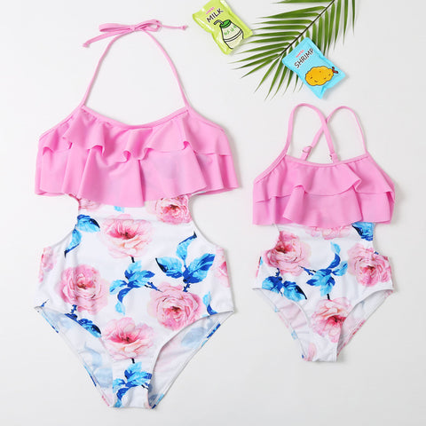 Matching Mommy and Me Rose Vacation Swimsuit