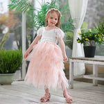 Girls Eyelash Tutu Flower Girl Dress