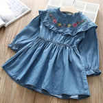 Girls Ruffles Floral Dress