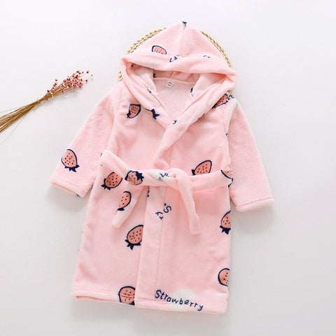 Toddler Strawberry Cozy Robes