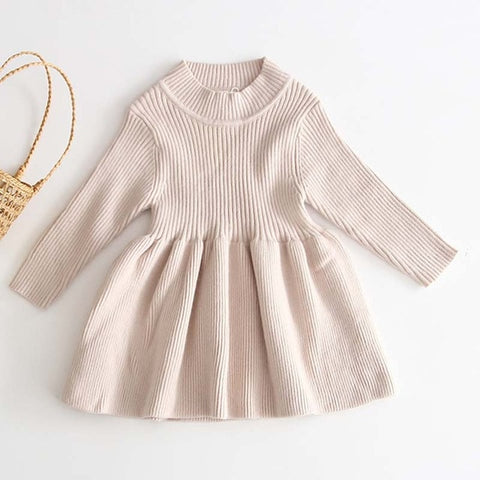Baby Girl Knitted Sweater Dress