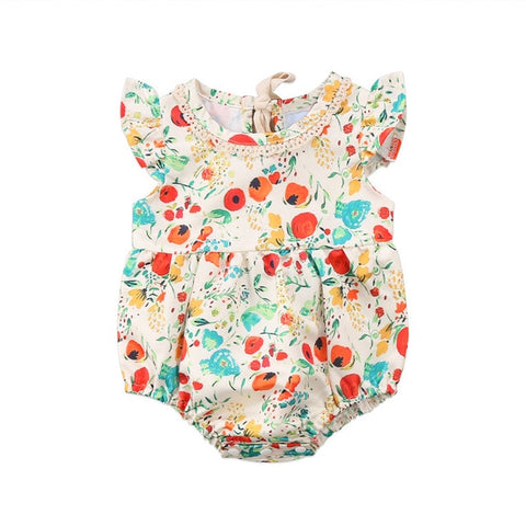 Baby Girl Floral Romper - Debbie's Kids Boutique