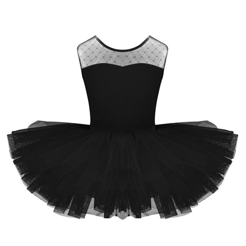 Girl's  U shaped Back  Dance/Gymnastics Leotard with Tutu