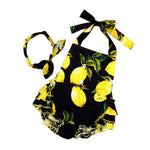 Little Lemons 2 pcs romper - Debbie's Kids Boutique