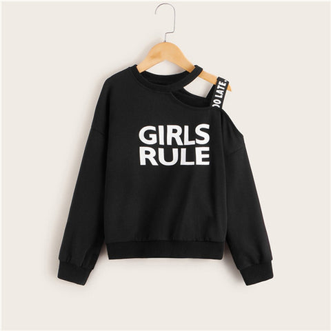 Girls Rule Autumn Long Sleeve Sweatshirt
