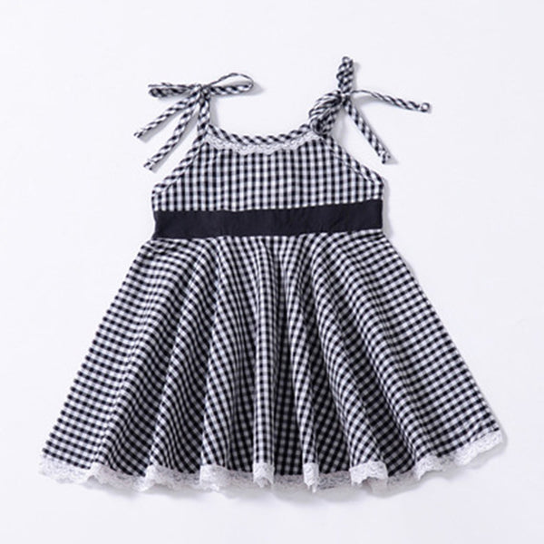 Girls Plaid Fashion Dress