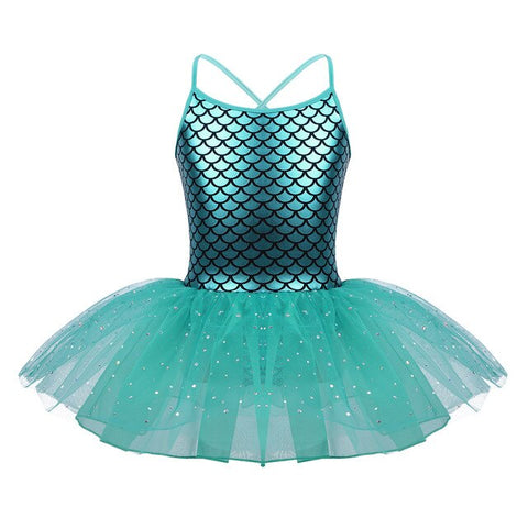 Girls Mermaid Ballet tutu Dress