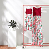 Mother and Daughter Matching Floral Maxi dress