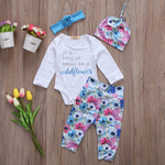 Wildflower Baby Girl 4 pcs outfit