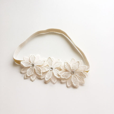 Lovely white flower headband