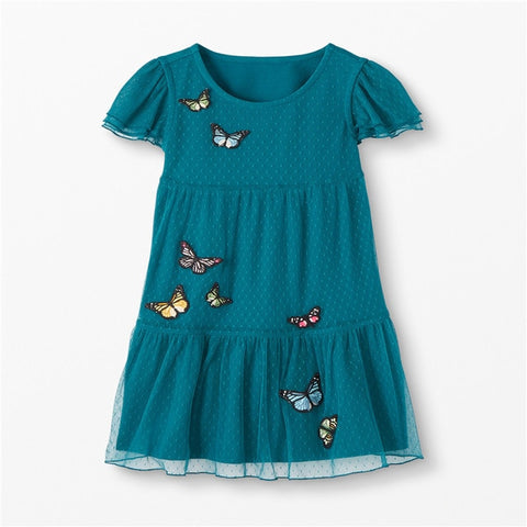 Butterfly and Tutu Printed Toddler Dress