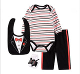 Little Gentlemen Infant Baby 4pcs set