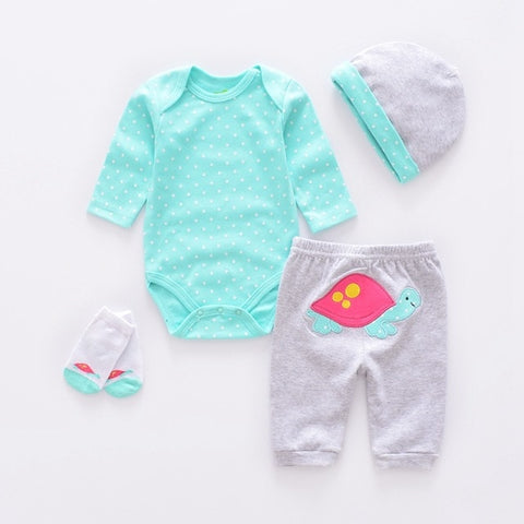 Infant Baby turtle 4pcs Clothing Sets