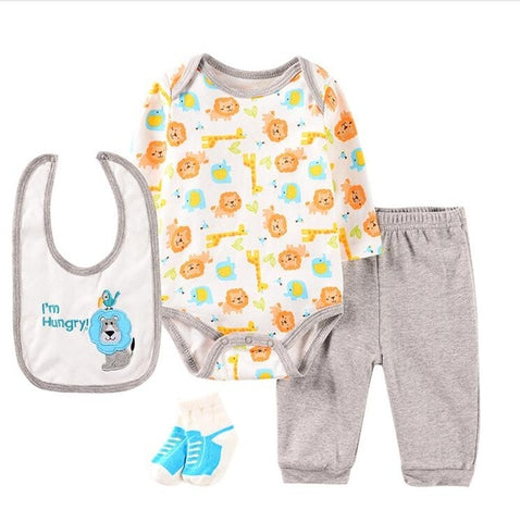 Infant Baby 4pcs Cute Clothing Sets.
