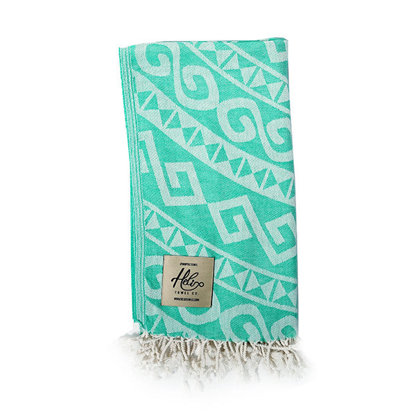 Green Mykonos Helix Towel