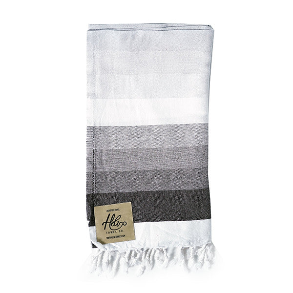 Hermosa Black and White Helix Towel
