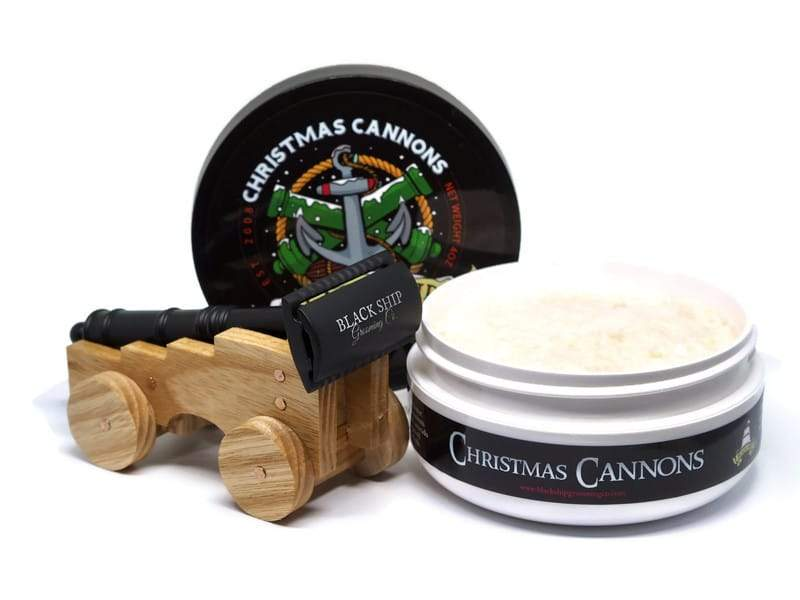 Christmas Cannons & Cannon Razor with matching Stand - Black Ship Grooming Co.