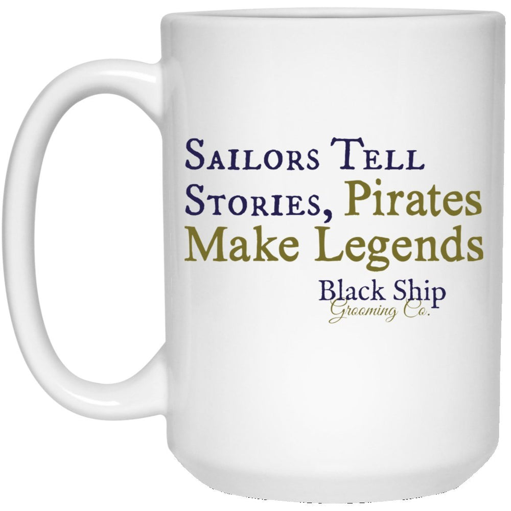 Sailor Stories First Mate's 15 oz. White Mug - Black Ship Grooming Co.