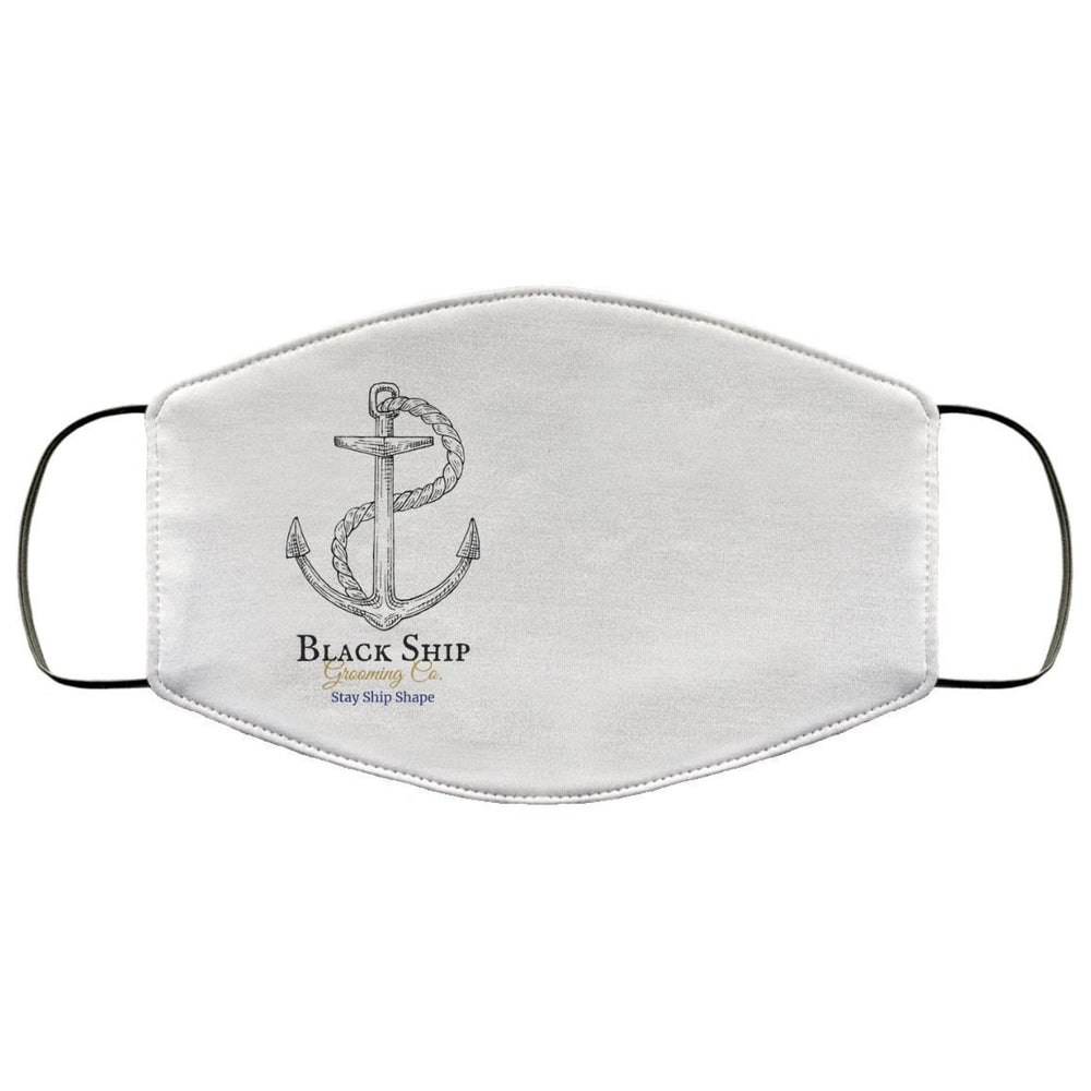 Stay Ship Shape anchor (1) FMA Med/Lg Face Mask - Black Ship Grooming Co.