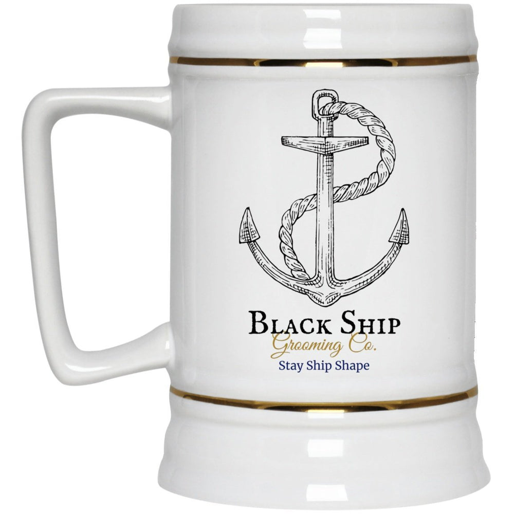 Stay Ship Shape anchor (1) The Captain's Tankard 22oz. - Black Ship Grooming Co.