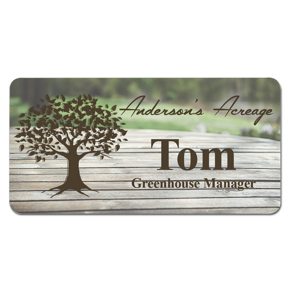 SUBLIMATED FULL COLOR NAME BADGES