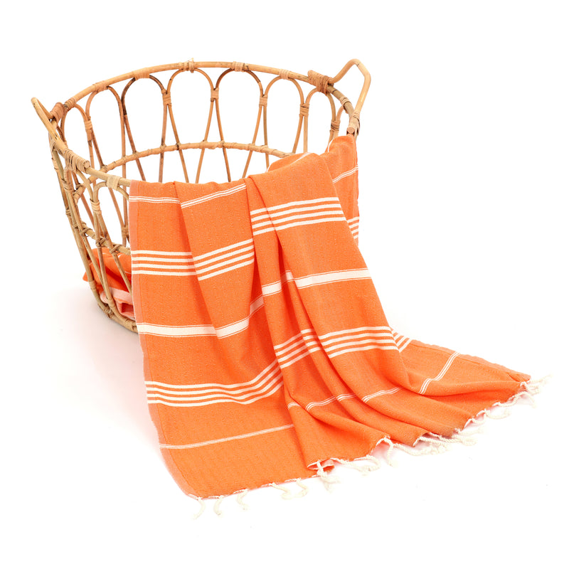 Rüya Turkish Cotton Towel Orange
