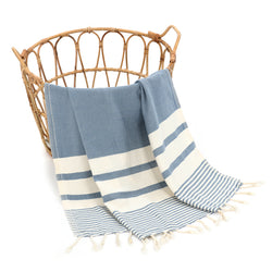 Dehna Turkish Cotton Towel Blue
