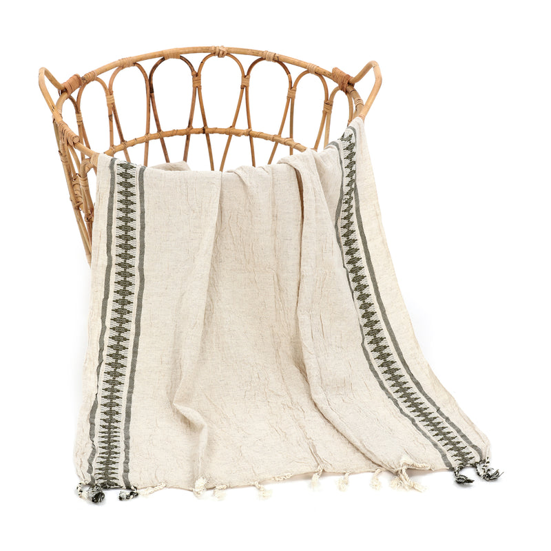 Peshce Turkish Cotton Towel Khaki