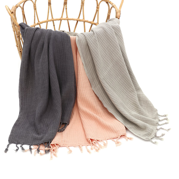 MILA Turkish Cotton Towel D. Gray