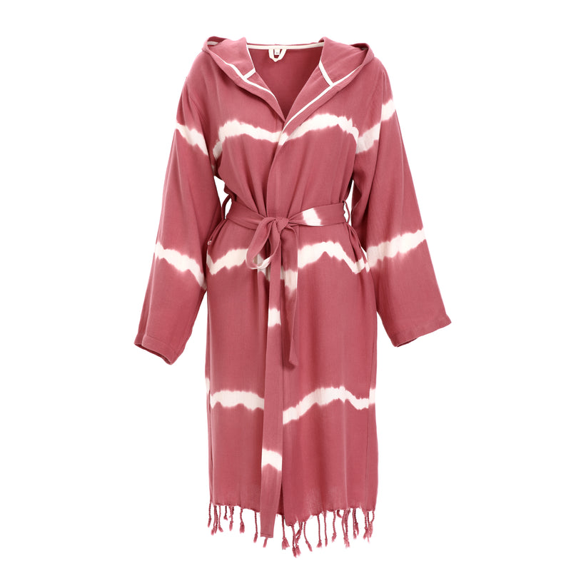 Dila With Hood Bamboo Bathrobe Dry Rose