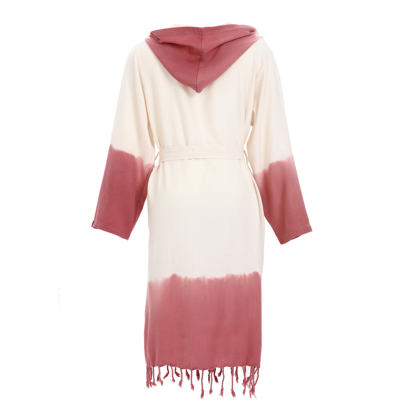 Alev With Hood Bamboo Bathrobe Dry Rose