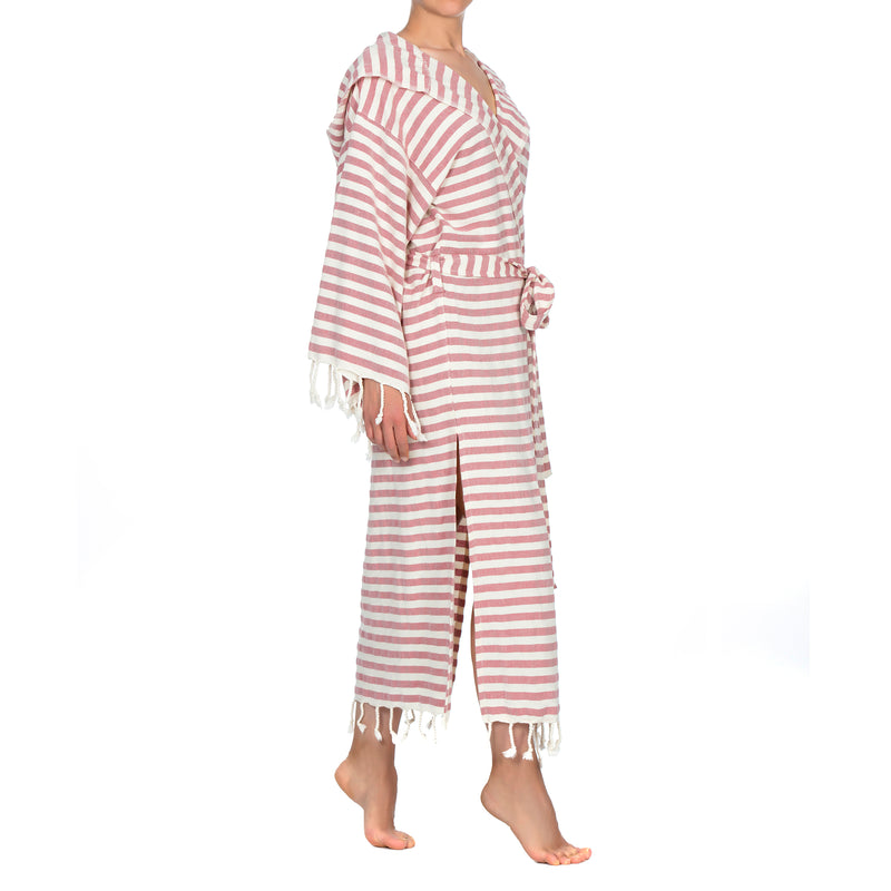 Melisa Bathrobe With Hood Dry Rose