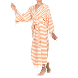 Melisa Bathrobe With Hood Orange