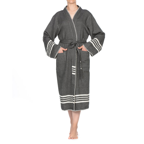 Su Luxury Bathrobe Black