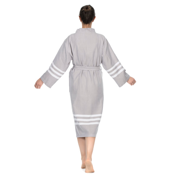 Layen Cotton Bathrobe A. Gray
