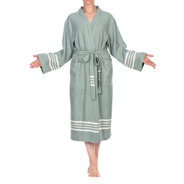 Azra Cotton Bathrobe C. Green