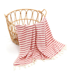 Meyra Turkish Cotton Towel Fuchsia