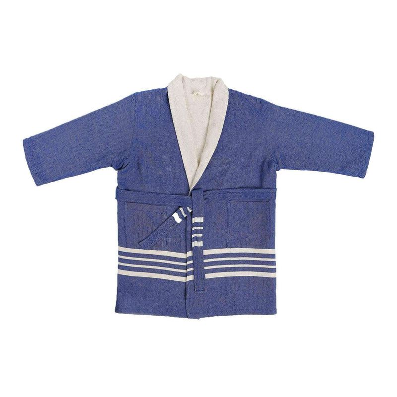 Ada Bathrobe With Terry Navy Blue