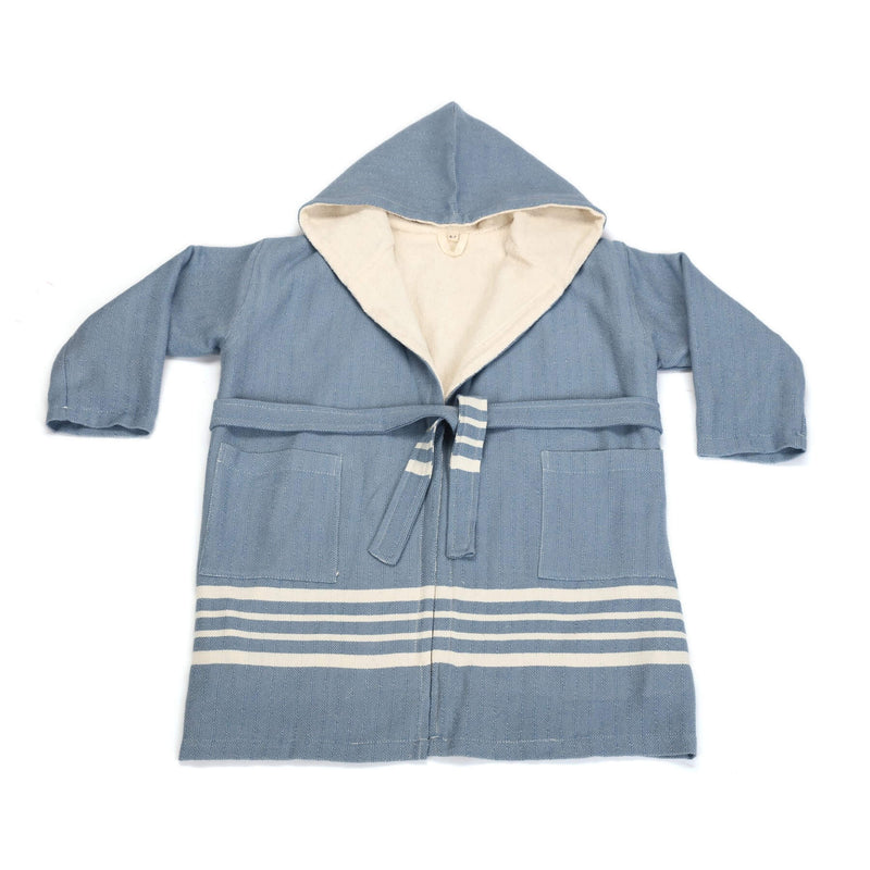 Ada Bathrobe With Hood Blue