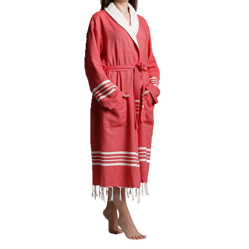 turkish towel bathrobe with terry