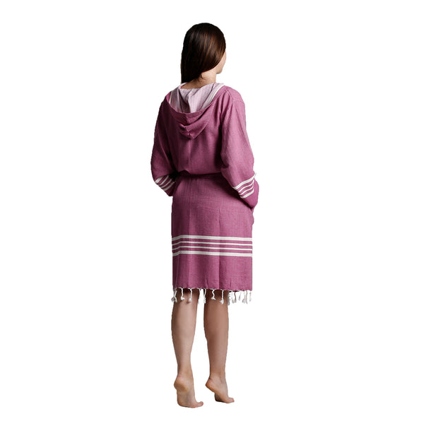 Toprak With Hood Bathrobe Light Purple