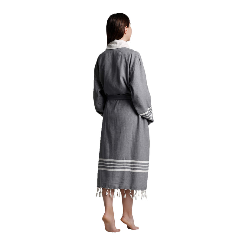 Toprak With Terry Bathrobe Dark Grey