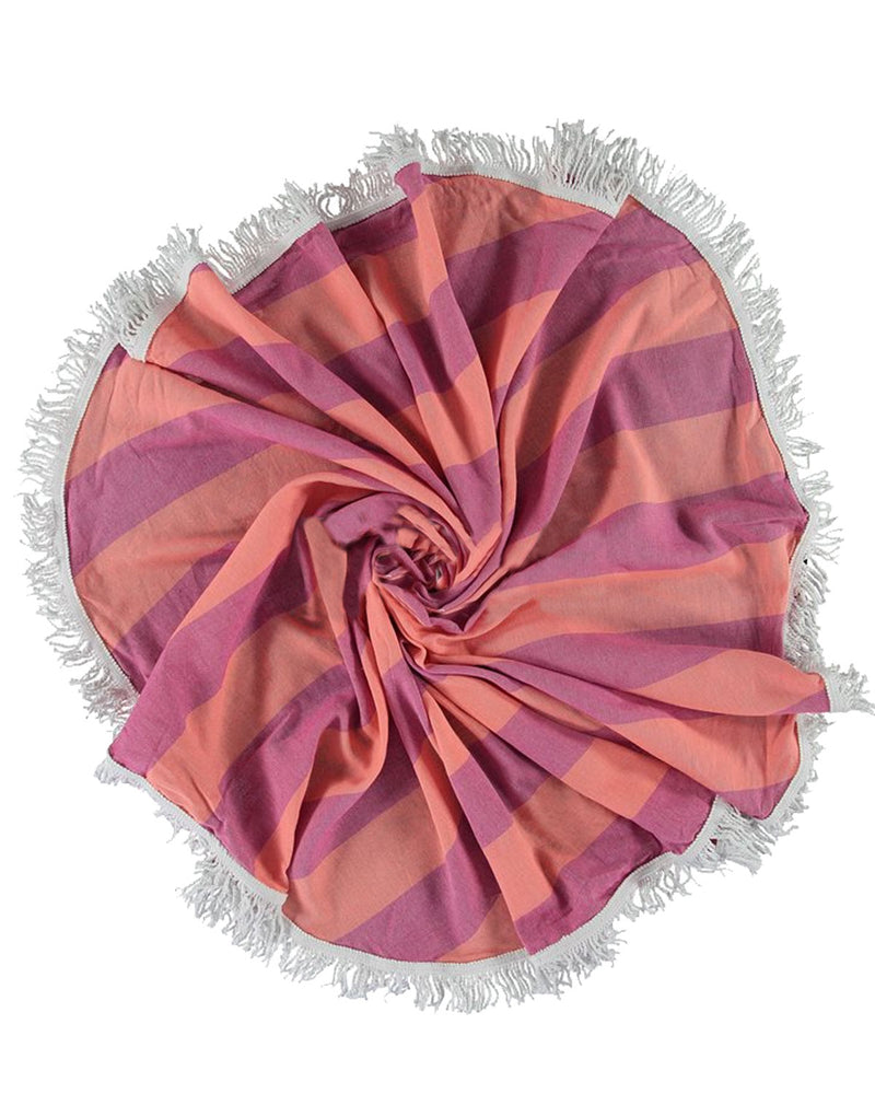 Pink Orange Turkish Round Towels
