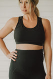 Glow Maternity Nursing/Sports bra  - Black