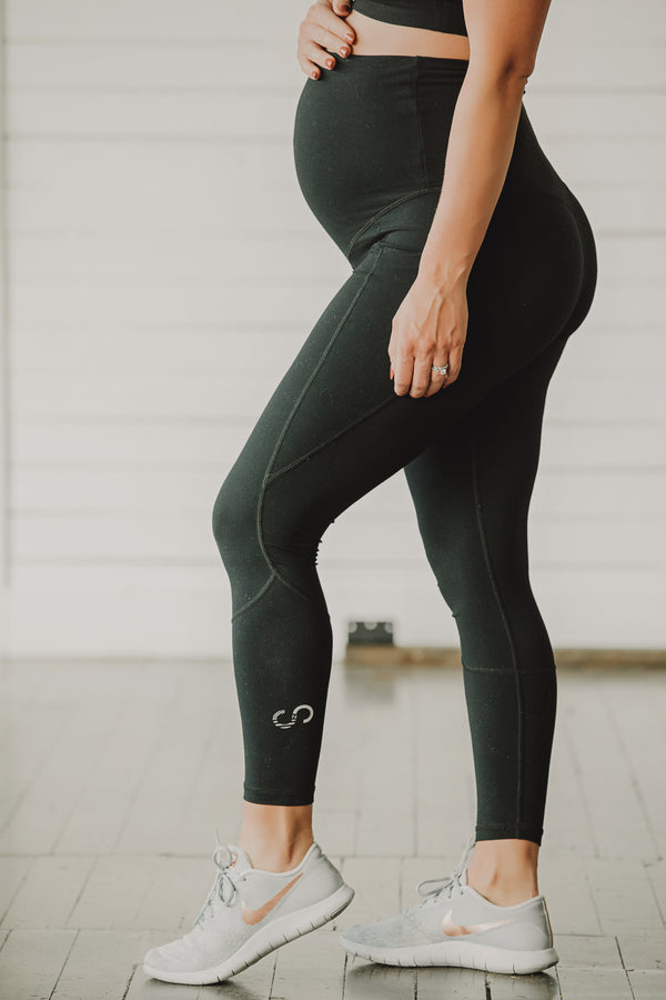 Glow Maternity Leggings with pockets - Black